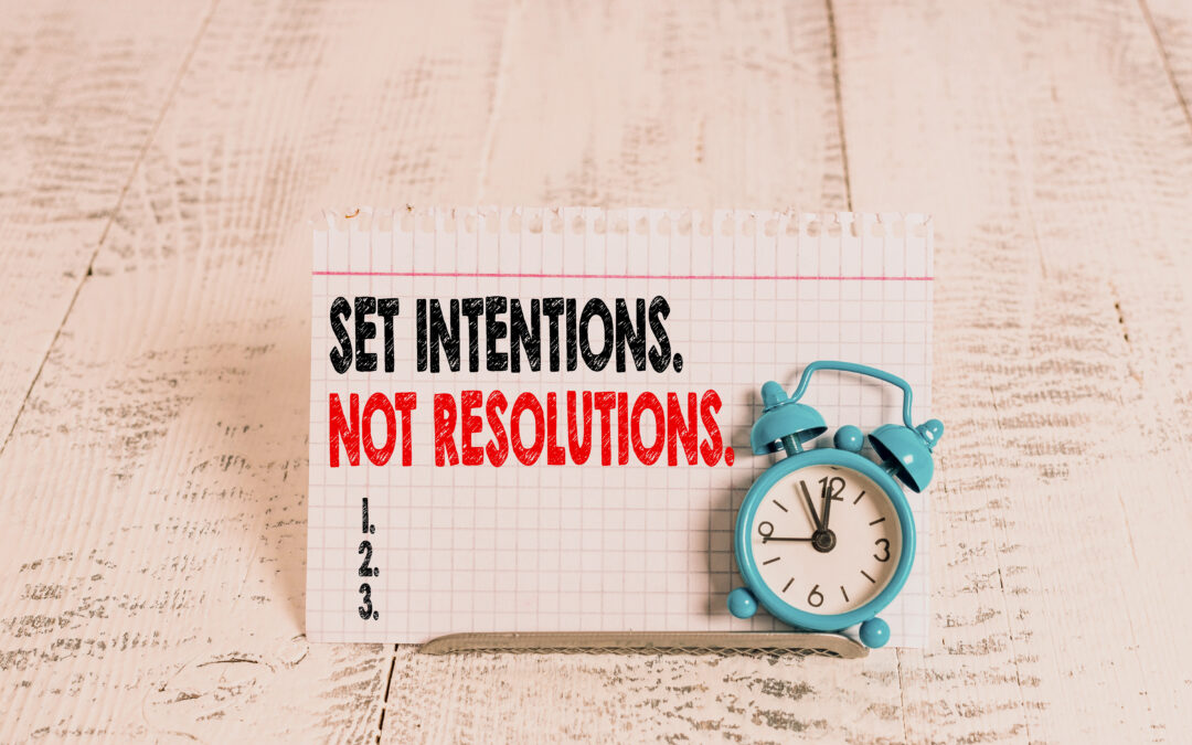 setting intentions vision board